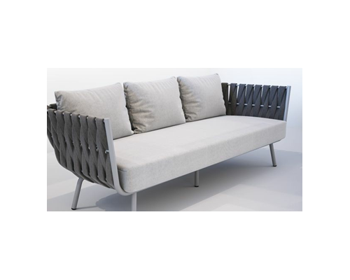 Outdoor furniture sofa with three seats