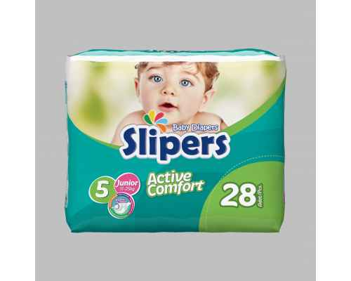 Slipers Baby Diapers - Twin Pack