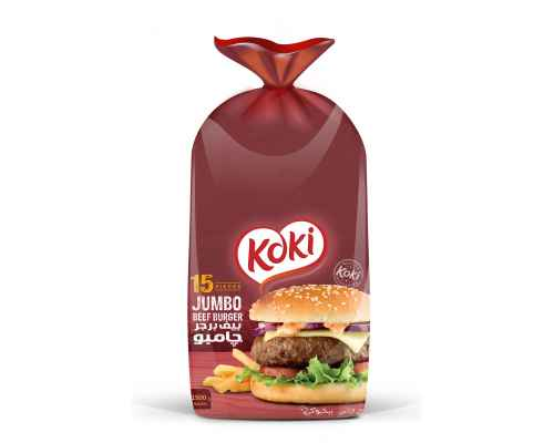 koki Jumbo Beef Burger 15 Pieces