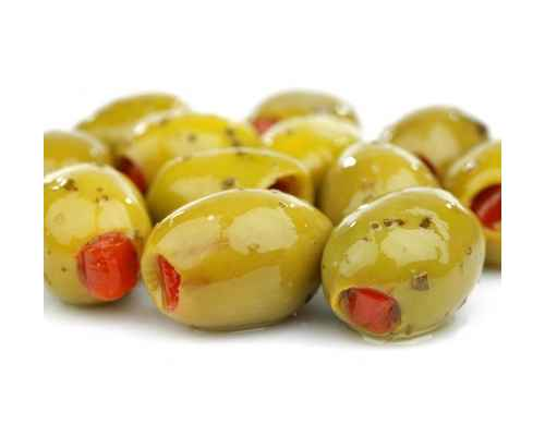 Green olives stuffed with Pepper