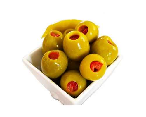 Green olives stuffed with carrot