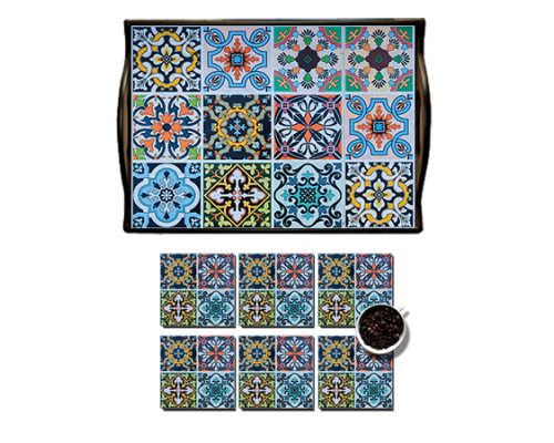 Photo Block Andalusian Tray Set 18- (55)